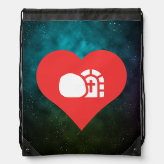 I Heart Churches Icon Backpack