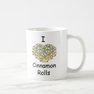 I Heart Cinnamon Rolls Sweet Love Buns Cartoon Coffee Mug