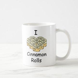 I Heart Cinnamon Rolls Sweet Love Buns Cartoon Coffee Mug