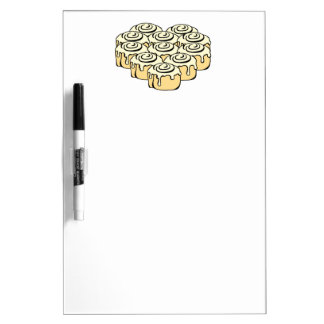 I Heart Cinnamon Rolls Sweet Love Buns Cartoon Dry Erase Board
