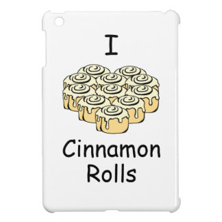I Heart Cinnamon Rolls Sweet Love Buns Cartoon iPad Mini Cover