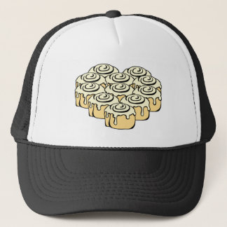I Heart Cinnamon Rolls Sweet Love Buns Cartoon Trucker Hat