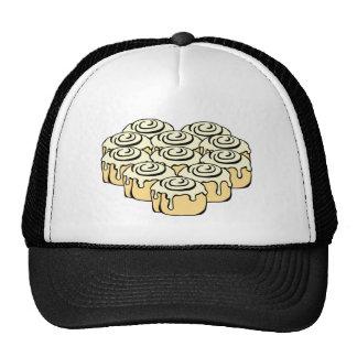 I Heart Cinnamon Rolls Sweet Love Buns Cartoon Trucker Hat