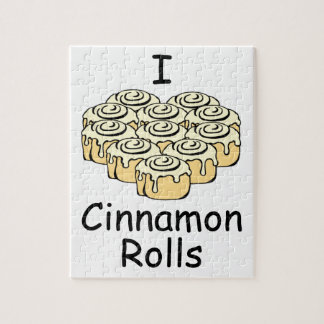 I Heart Cinnamon Rolls Sweet Love Buns Cute Jigsaw Puzzle
