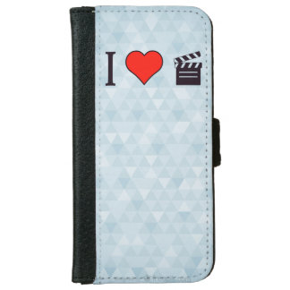 I Heart Clapperboards iPhone 6 Wallet Case