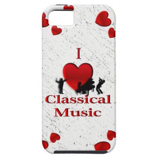 I Heart Classical Music iPhone 5 Case