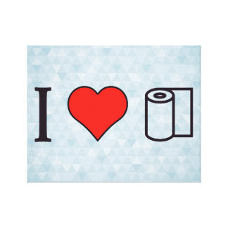 I Heart Cleaning Up Spills Canvas Print