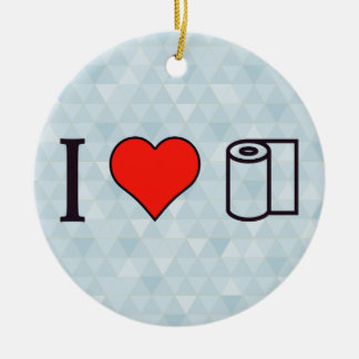 I Heart Cleaning Up Spills Ceramic Ornament