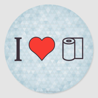I Heart Cleaning Up Spills Classic Round Sticker