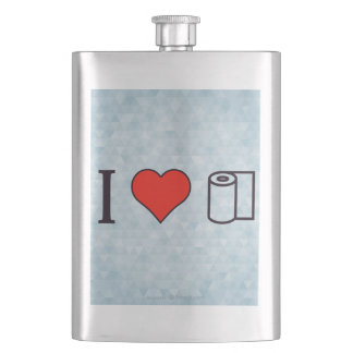 I Heart Cleaning Up Spills Flask