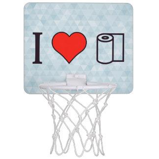 I Heart Cleaning Up Spills Mini Basketball Backboards