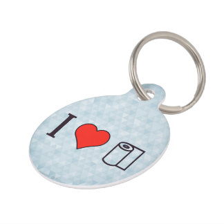 I Heart Cleaning Up Spills Pet ID Tag