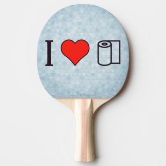 I Heart Cleaning Up Spills Ping-Pong Paddle