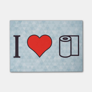 I Heart Cleaning Up Spills Post-it® Notes