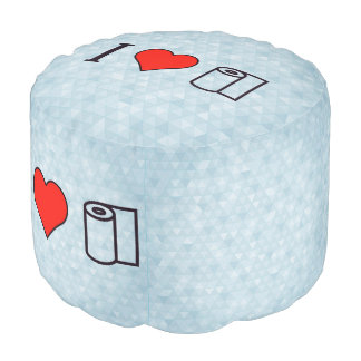 I Heart Cleaning Up Spills Pouf