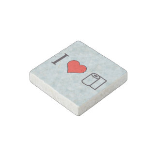 I Heart Cleaning Up Spills Stone Magnet