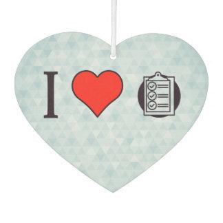 I Heart Clipboards Car Air Freshener