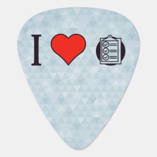 I Heart Clipboards Guitar Pick