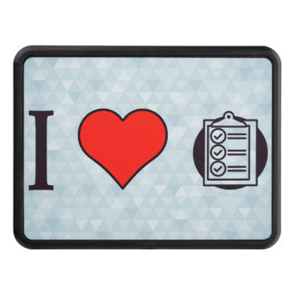I Heart Clipboards Hitch Cover