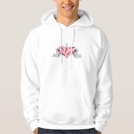 I Heart Clubbing Baby Seals Pullover