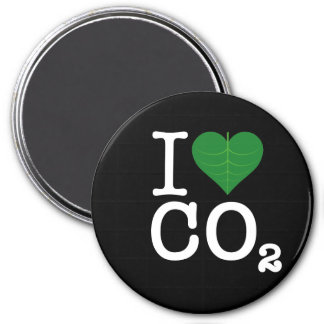 I Heart CO2 3 Inch Round Magnet