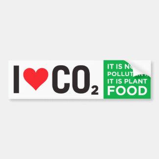 I Heart CO2 Bumper Sticker