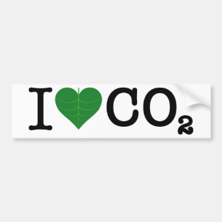 I Heart CO2 Bumper Sticker