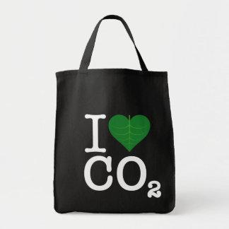 I Heart CO2 Grocery Tote Bag