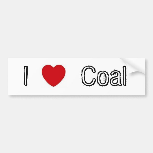 I Heart Coal Bumper Sticker