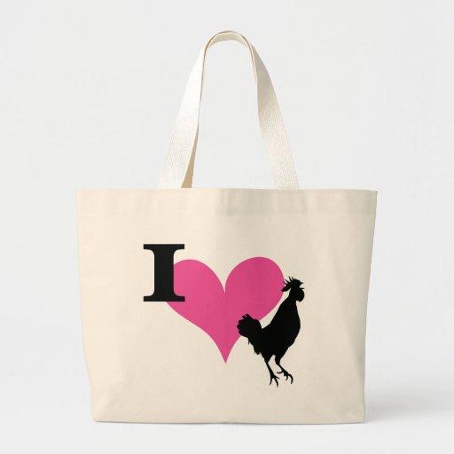I Heart Cock Canvas Bags