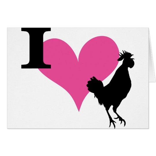 I Heart Cock Card
