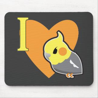 I Heart Cockatiels Mouse Pad