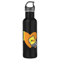 I Heart Cockatiels Stainless Steel Water Bottle