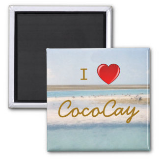 I Heart CocoCay 2 Inch Square Magnet