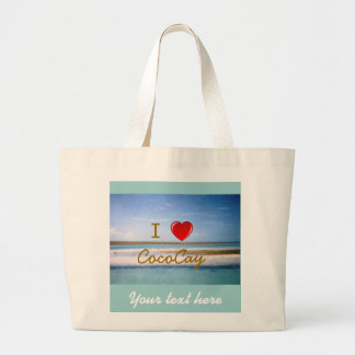I Heart CocoCay Personalized Large Tote Bag