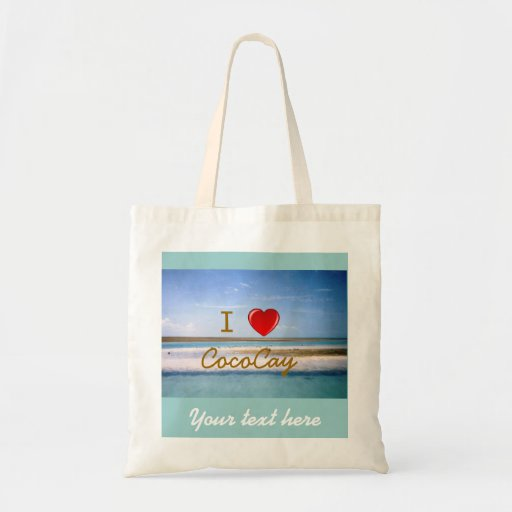 I Heart CocoCay with Name Budget Tote Bag
