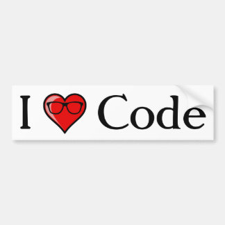I Heart Code Bumper Sticker