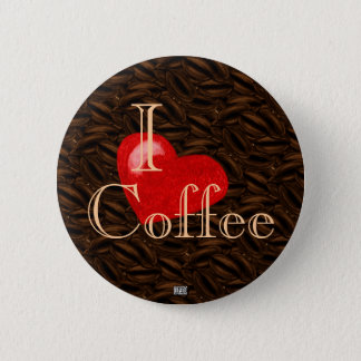 I Heart Coffee Button