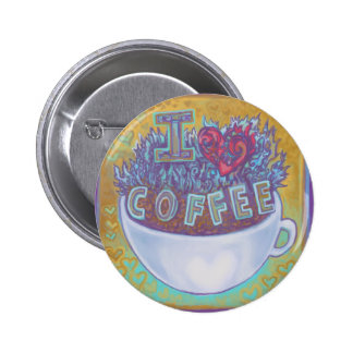 I Heart Coffee Pinback Buttons