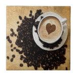 I Heart Coffee Ceramic Tiles
