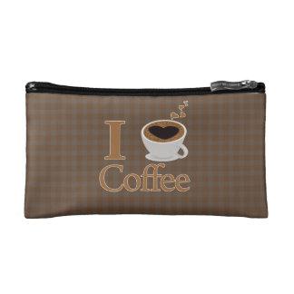 I Heart Coffee Cosmetic Bag
