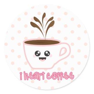 I heart coffee design Sticker sticker