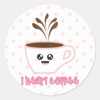 I heart coffee design Sticker