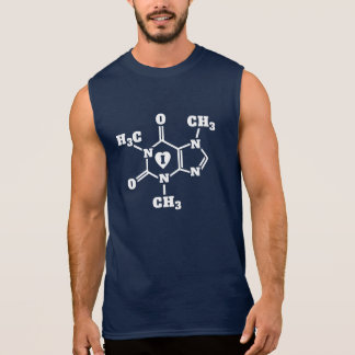 I Heart Coffee Geek Caffeine Molecule Funny Sleeveless Shirt