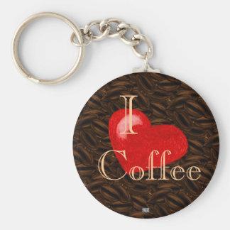 I Heart Coffee Keychain