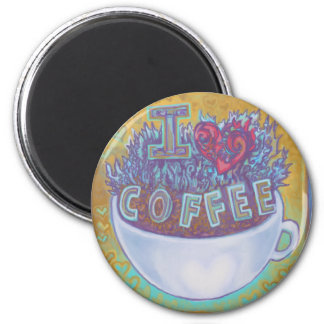 I Heart Coffee Refrigerator Magnet