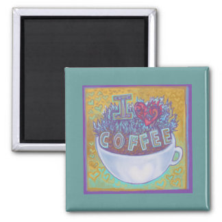 I Heart Coffee Magnets