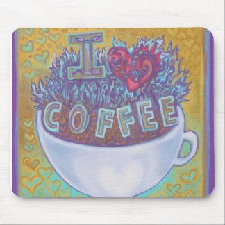 I Heart Coffee Mousepads