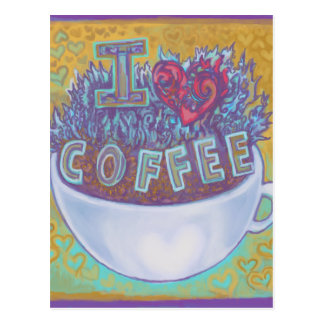 I Heart Coffee Postcard
