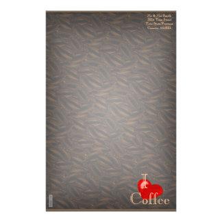 I Heart Coffee Custom Stationery